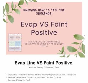 evap vs faint positive